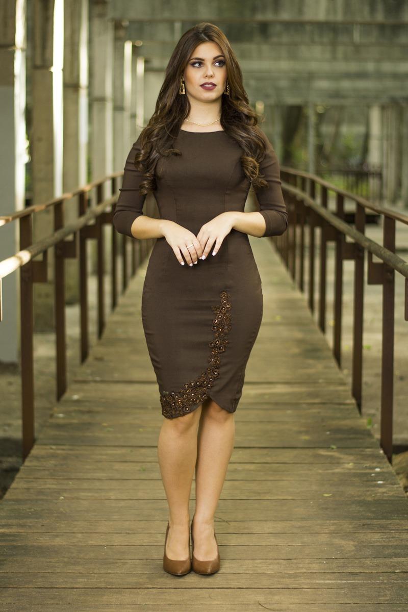 Vestido marrom Luisa SC30