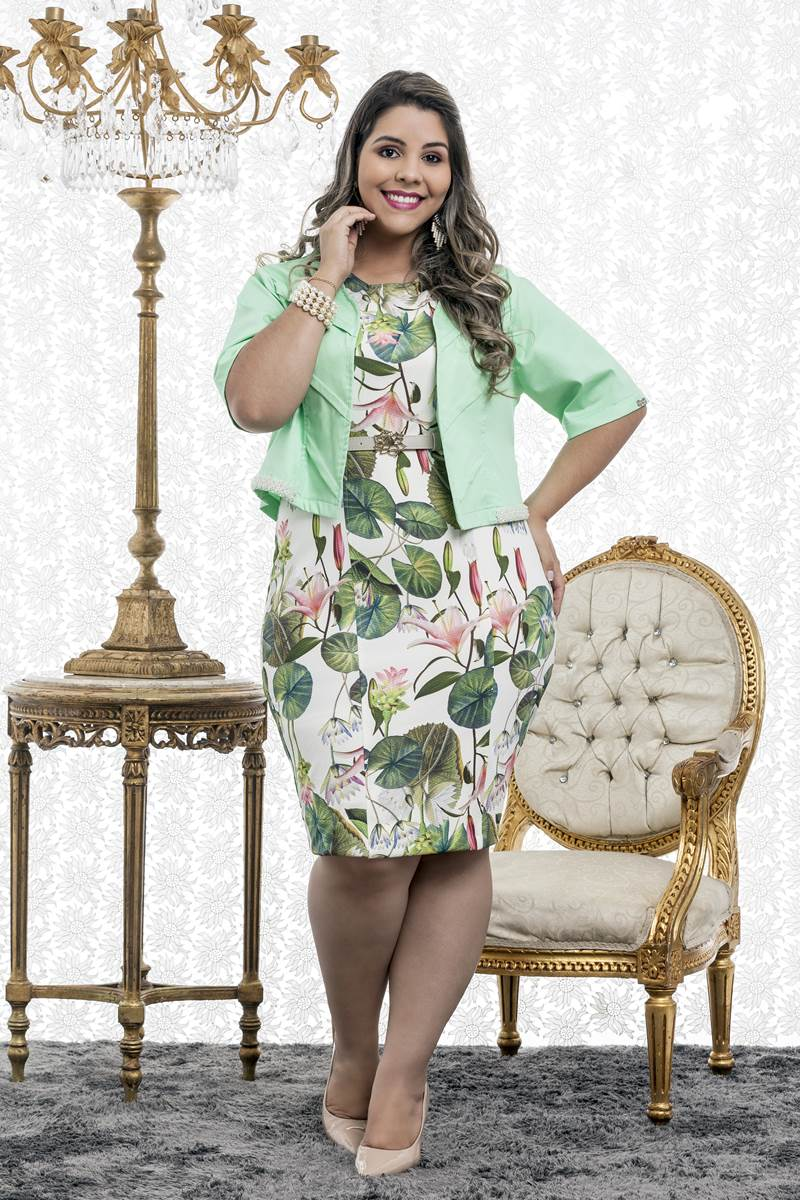Vestido Midi Bella Heran�a Herbal 5873