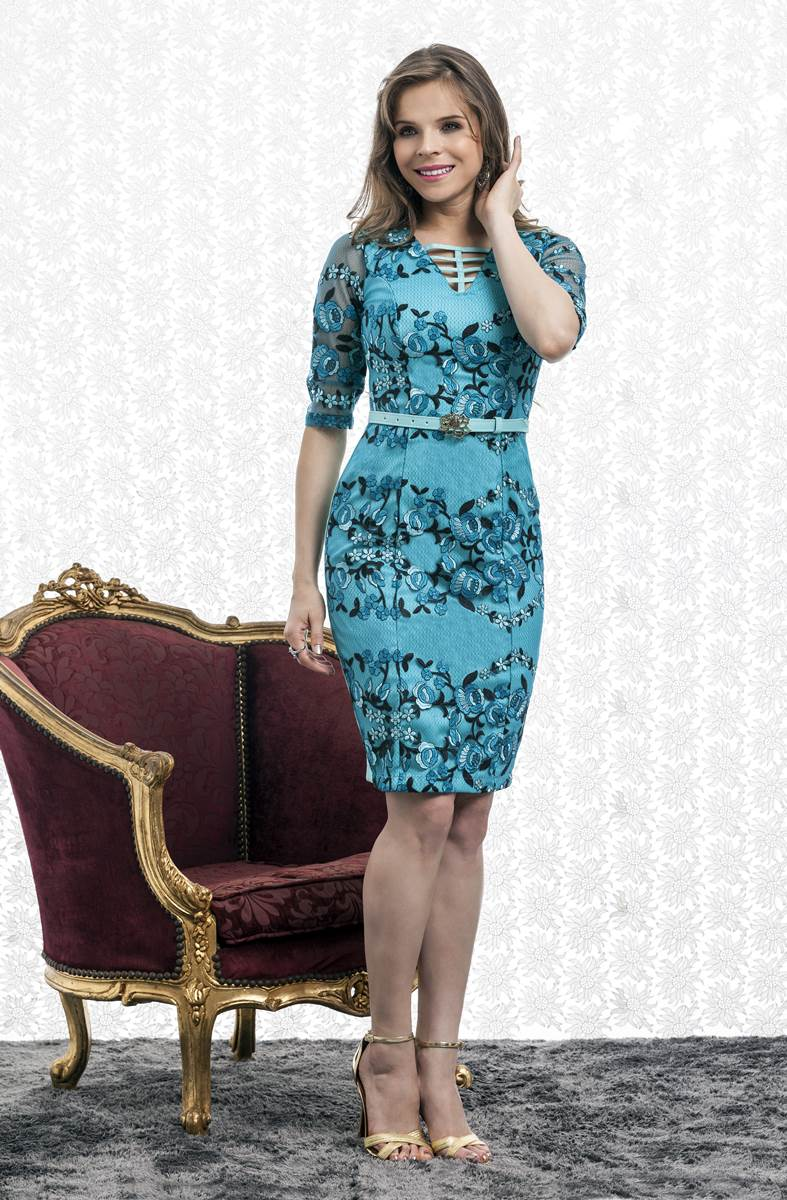 Vestido Bella Heran�a Tricotina 5832