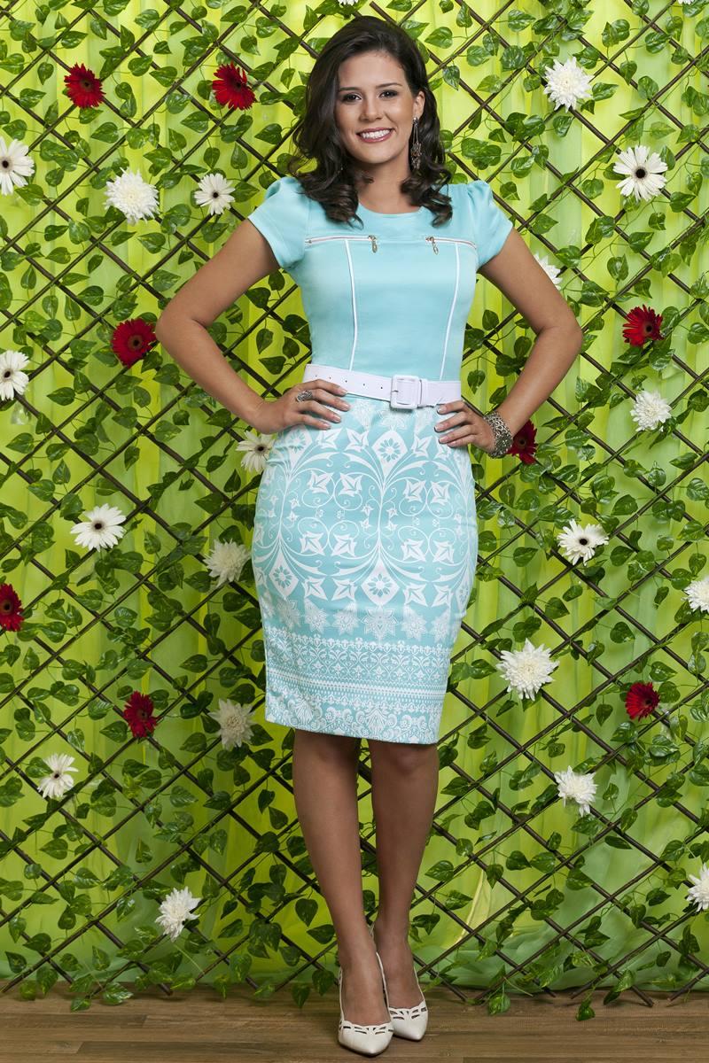 Vestido Bella Heran�a �ris Azul 6220