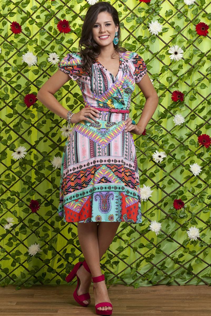 Vestido Bella Heranca Hortensia 6230