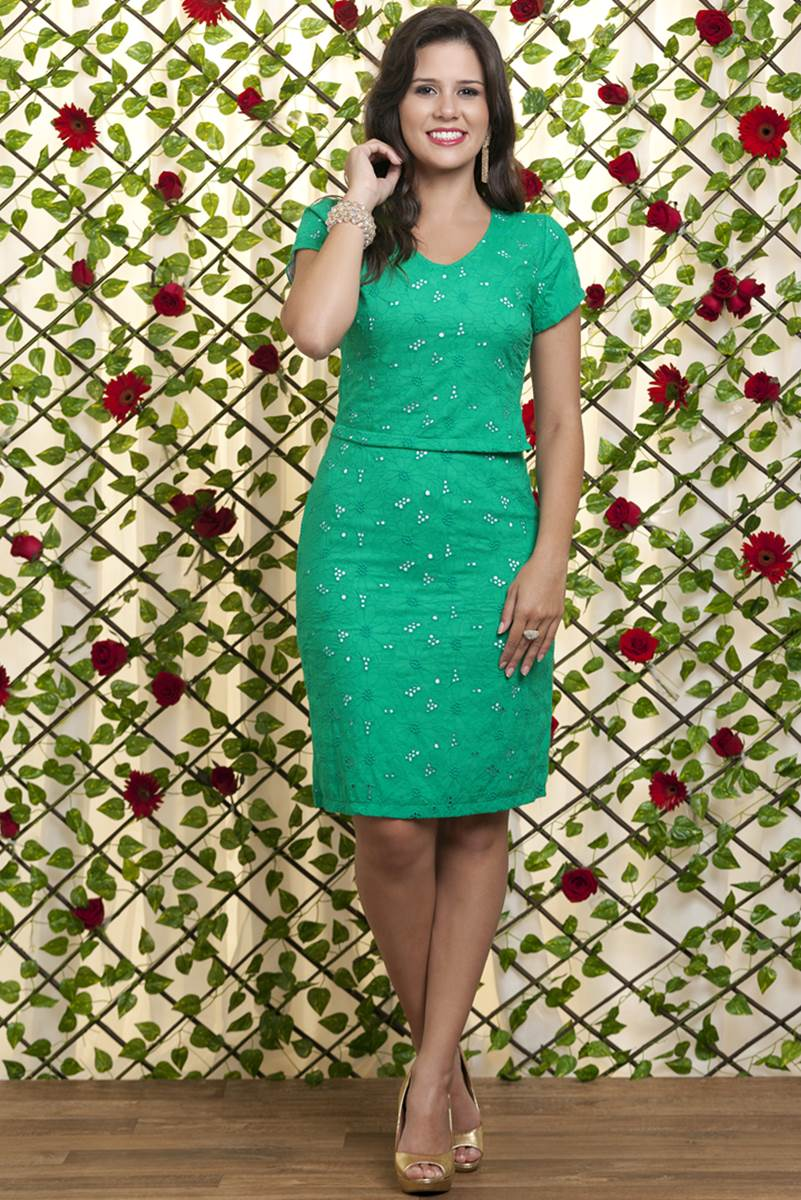 Conjunto Bella Heranca Flora Verde 6222