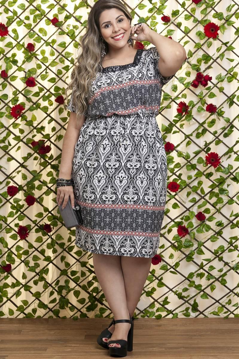 Vestido Bella Heranca Protea Preto 6253