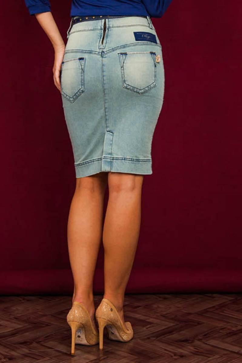 Saia Raje Jeans Casual 12330