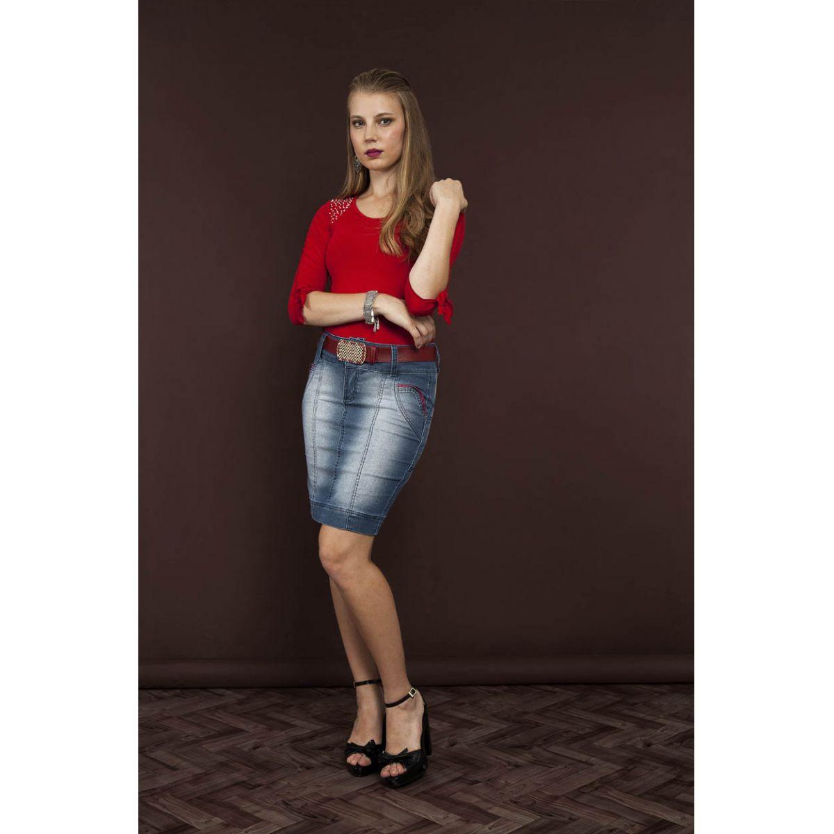 Saia Raje Jeans Teen 12390