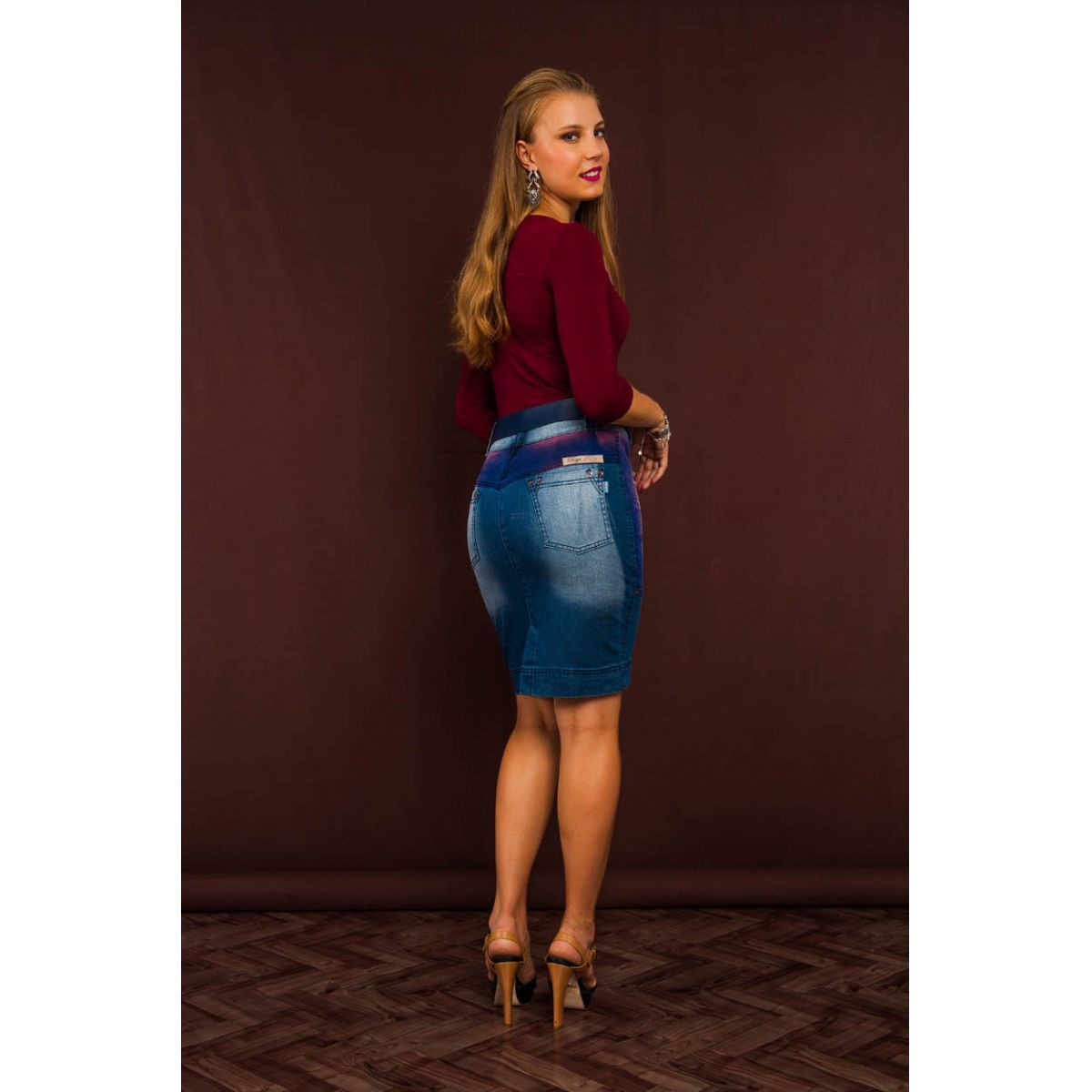 Saia Raje Jeans �tnica 12400