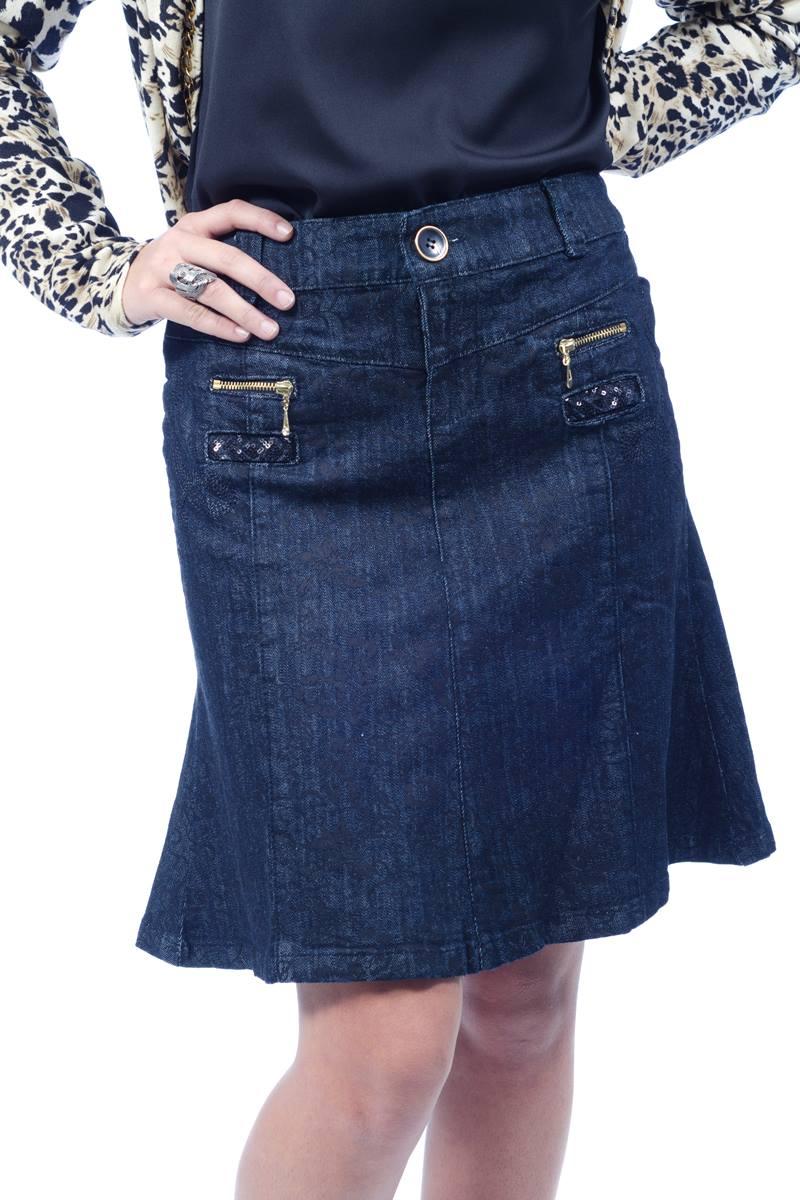 Saia Kabene Jeans Black 4707
