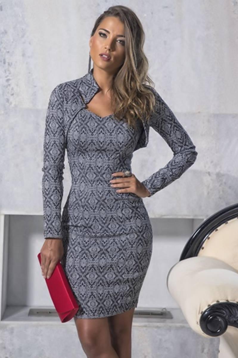 Vestido Gray Mulata Café 3030
