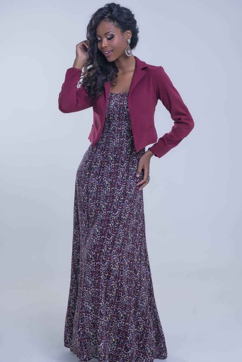 Vestido Mulata Caf� Liv 3108