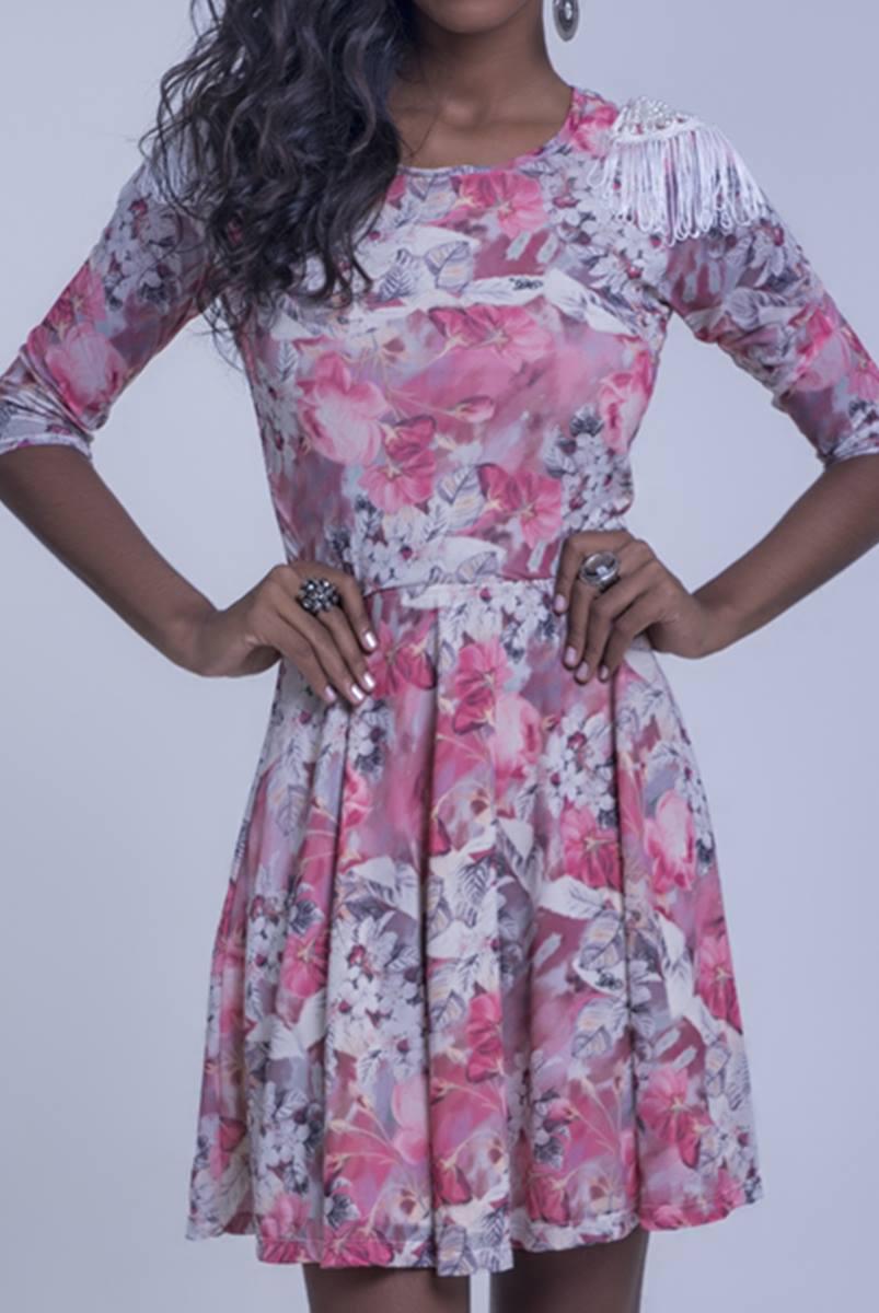 Vestido Mulata Café Princesa Rose 3111