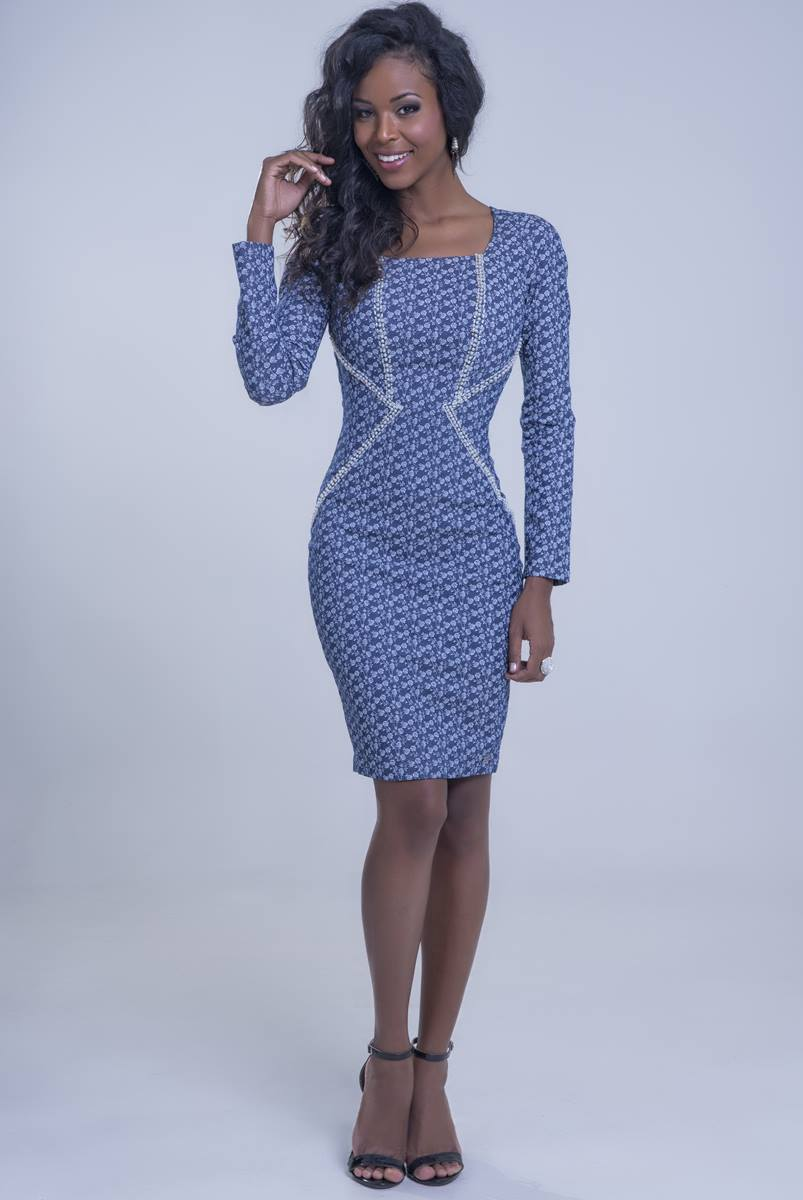 Vestido Mulata Azul 3026