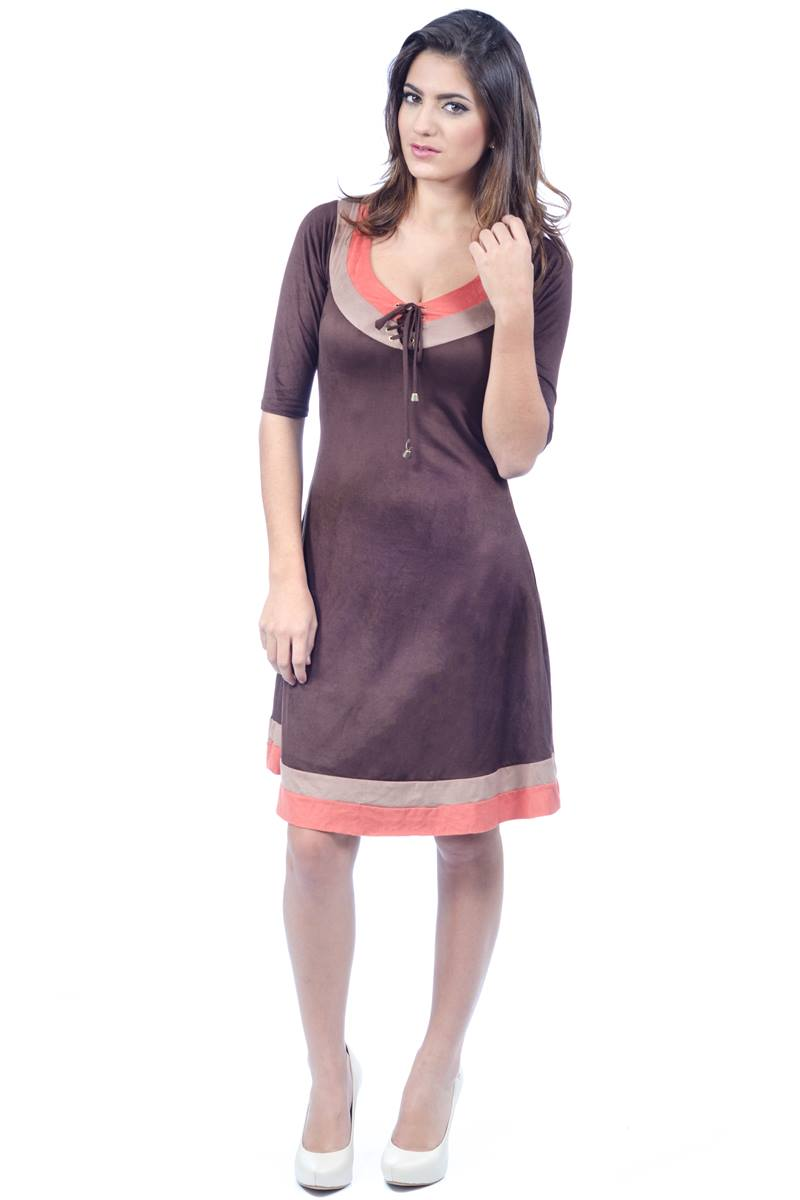 Vestido Greice Mulata Caf� 100010