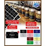Kit Organizar Temperos Retangular - Colors