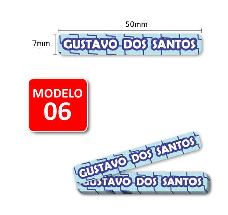 Etiquetas Adesivas para Lápis, Canetas, Escovas e Utensílios - Kit MENINOS 66 Unid.  - Identifix Adesivos Personalizados