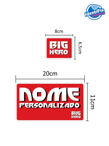 Kit Decorativo Quarto Big Hero  - Identifix Adesivos Personalizados