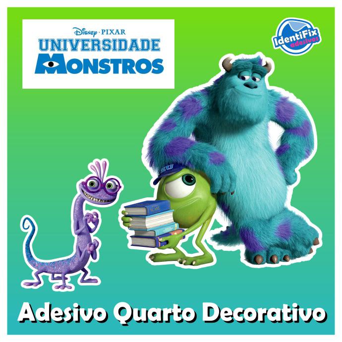 Kit Decorativo Quarto - Universidade Monstros  - Identifix Adesivos Personalizados