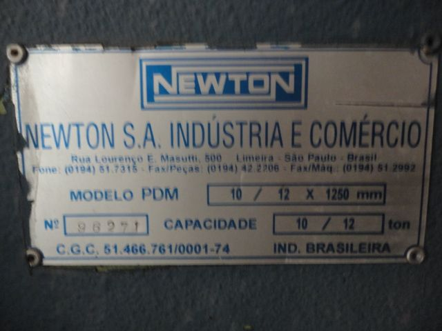 Dobradeira marca Newton PDM 10/12 x 1250  - AEG Comercial
