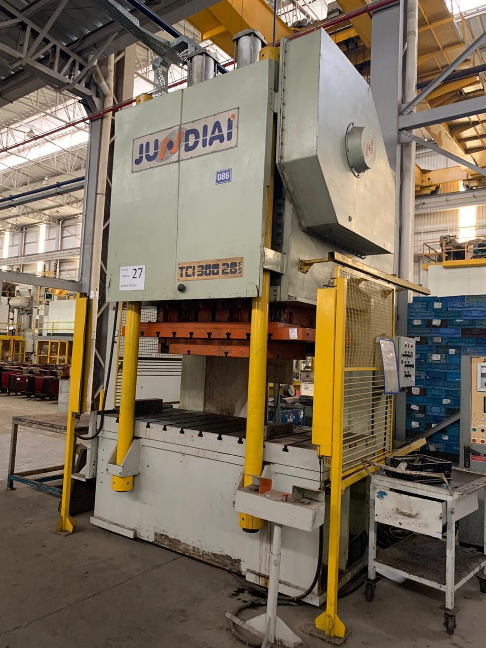 P27-Prensa Excêntrica tipo H  Jundiaí 300 ton Tci 300 F52e 2400mm x 1000mm
