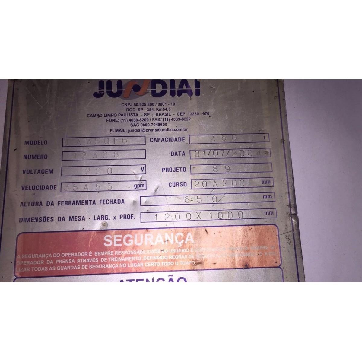 Prensa Exc Freio e Fricção  Jundiaí 350 ton  - AEG Comercial