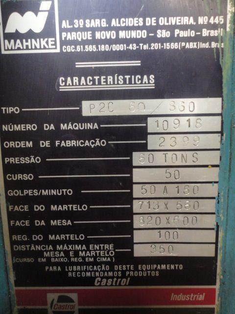 Prensa Rápida Mahnke 60 ton  - AEG Comercial