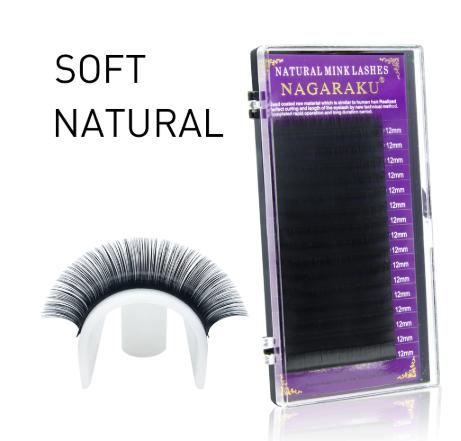 Cílios Natural Soft Mink Nagaraku  - Espessura 0.07