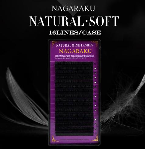 Cílios Natural Soft Mink Nagaraku - Espessura 0.05
