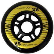 Rodas patins 90 mm jg com 04 rodas