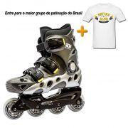 Patins Traxart Spectro + Camiseta Oficial Patins Club Brasil