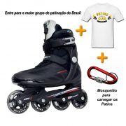 Patins Traxart Traxion + Camiseta Patins Club Brasil + Mosquetão