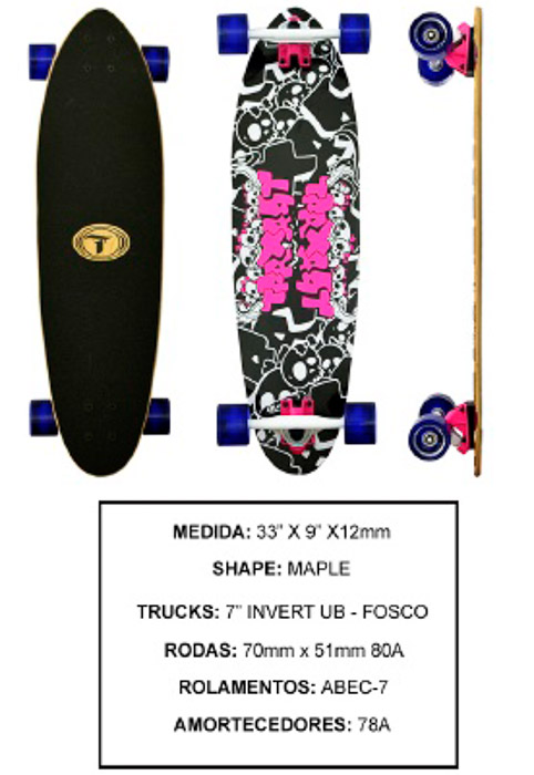 Longboard Traxart DP-004  - Rock Shop Skate Megastore