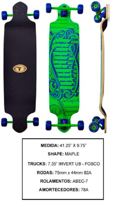 Longboard Traxart DP-006  - Rock Shop Skate Megastore
