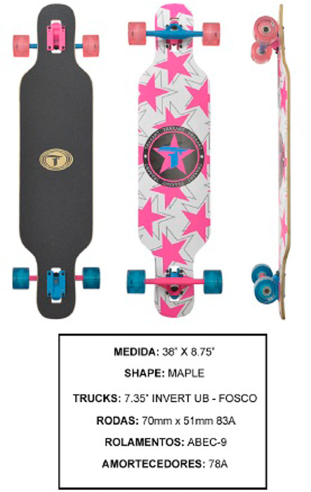 Longboard Traxart DP-009  - Rock Shop Skate Megastore