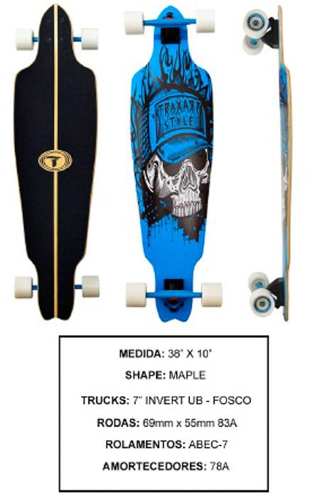 Longboard Traxart DP-010  - Rock Shop Skate Megastore