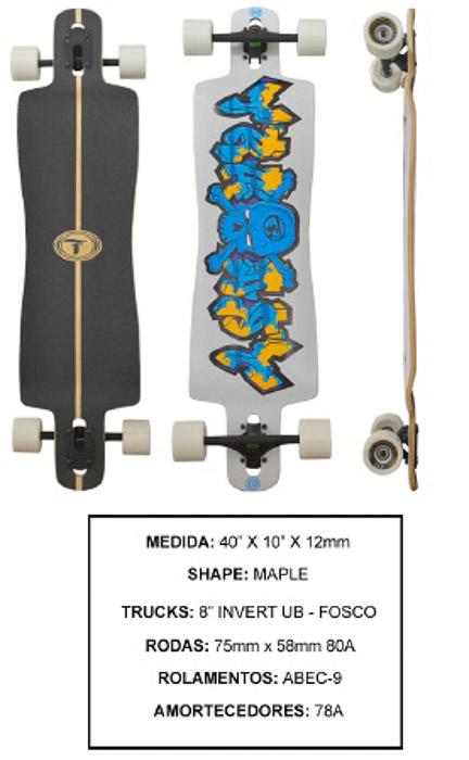 Longboard Traxart DP-017  - Rock Shop Skate Megastore