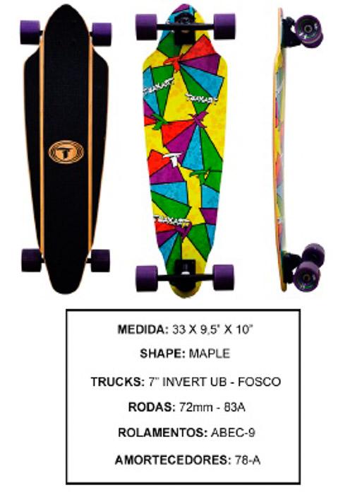 Longboard Traxart DM-466  - Rock Shop Skate Megastore