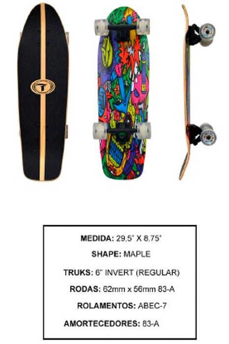 Longboard Traxart DM-474  - Rock Shop Skate Megastore