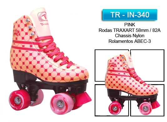 PATINS TRADICIONAL TR PINK  - Rock Shop Skate Megastore