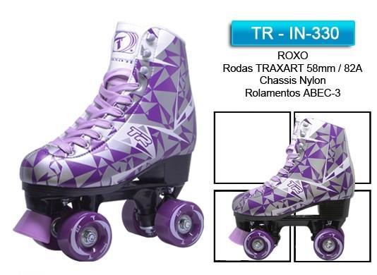 PATINS TRADICIONAL TR ROXO  - Rock Shop Skate Megastore