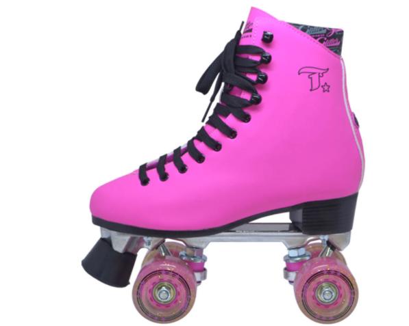 Patins Tradicional Glitter Pink  - Rock Shop Skate Megastore