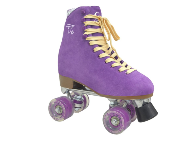 Patins TRADICIONAL GLITTER ROXO  - Rock Shop Skate Megastore