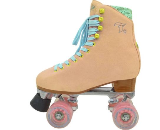 PATINS TRADICIONAL GLITTER ROSA  - Rock Shop Skate Megastore