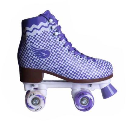 Patins Tradicional Quad  Creme Rolamentos Abec 7  - Rock Shop Skate Megastore