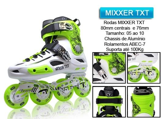 Patins Traxart Mixxer Verde e Branco  - Rock Shop Skate Megastore
