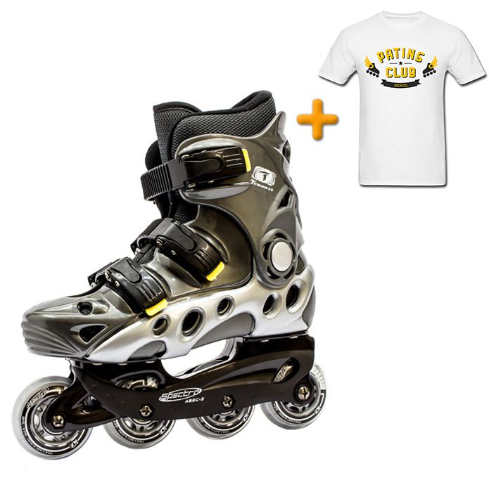 Patins Traxart Spectro + Camiseta Oficial Patins Club Brasil  - Rock Shop Skate Megastore
