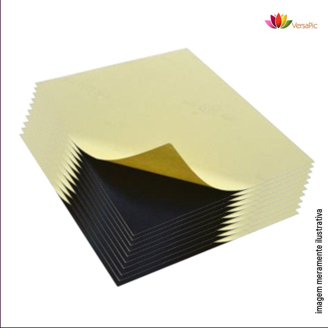 Cartão de PVC Preto 0,5mm Autoadesivo PSA Dupla Face 100un. cód. 130003 - 130012