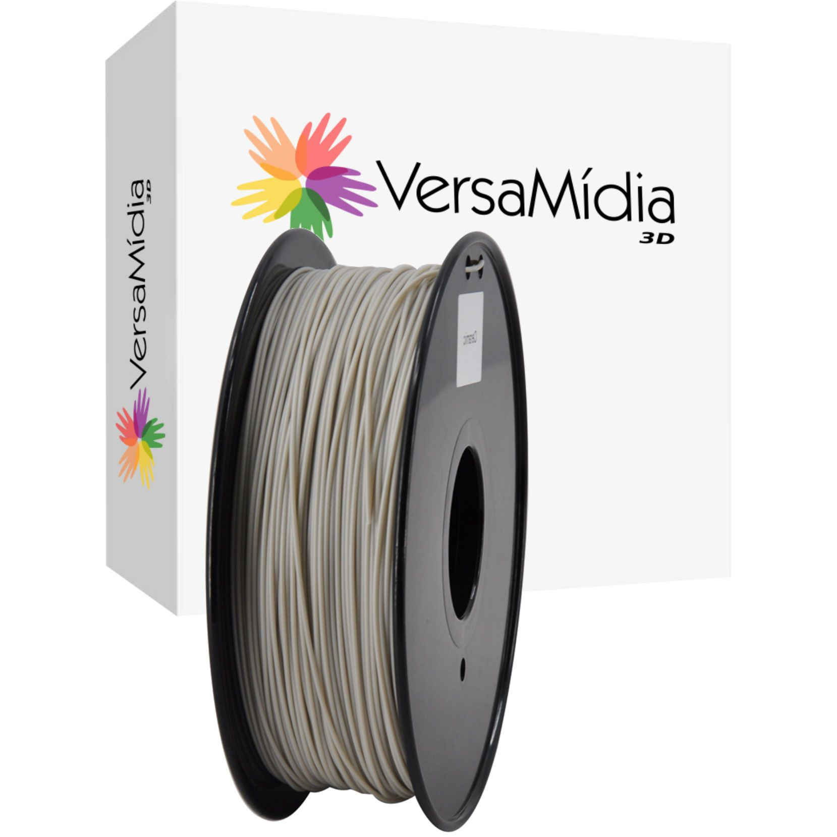 Filamento Ceramic PLA  VersaMídia 3D Premium  1.75mm Black Spool - 11517