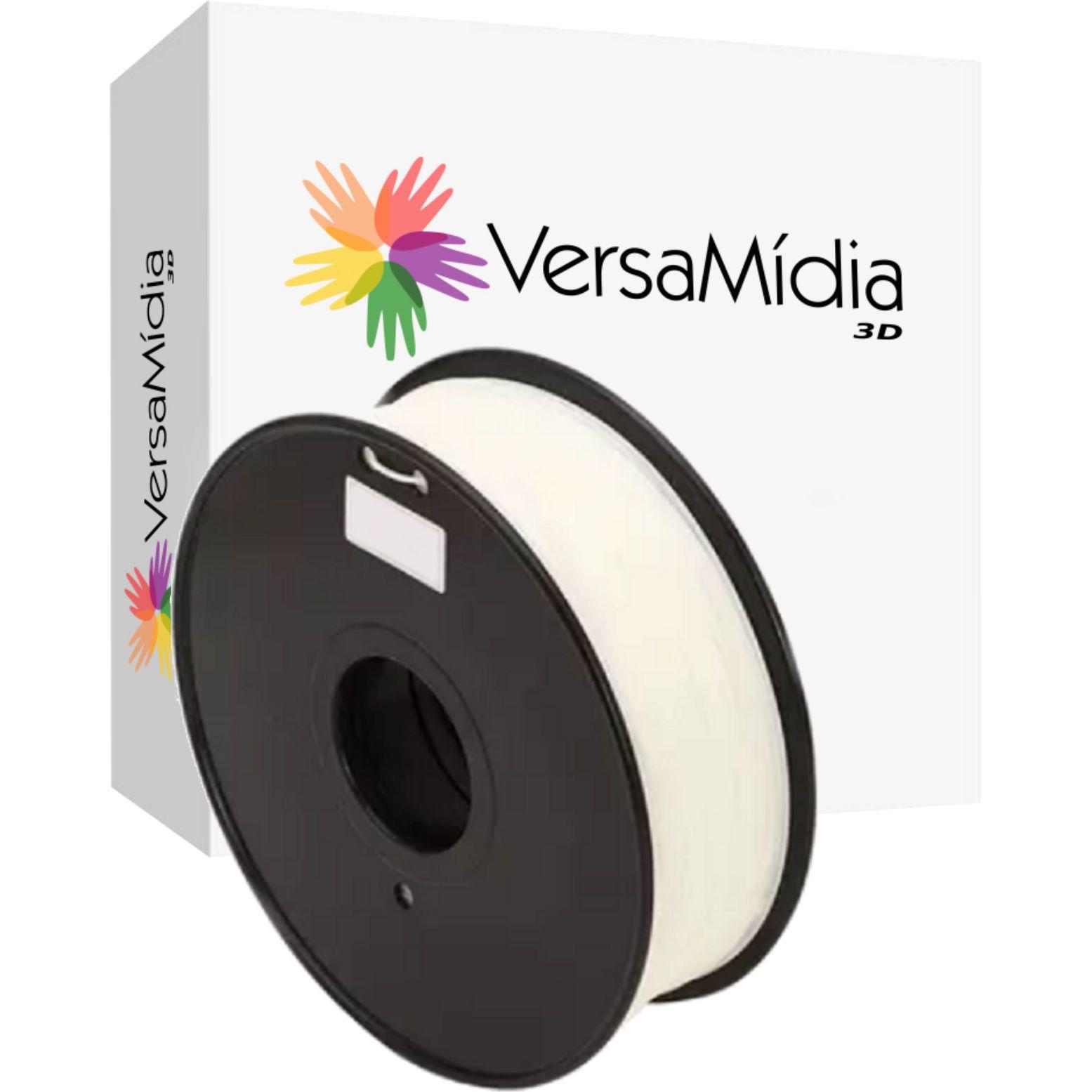 Filamento Flexível TPU  Premium 1.75mm 0.8Kg  VersaMídia 3D -  cód. 11526, 11531