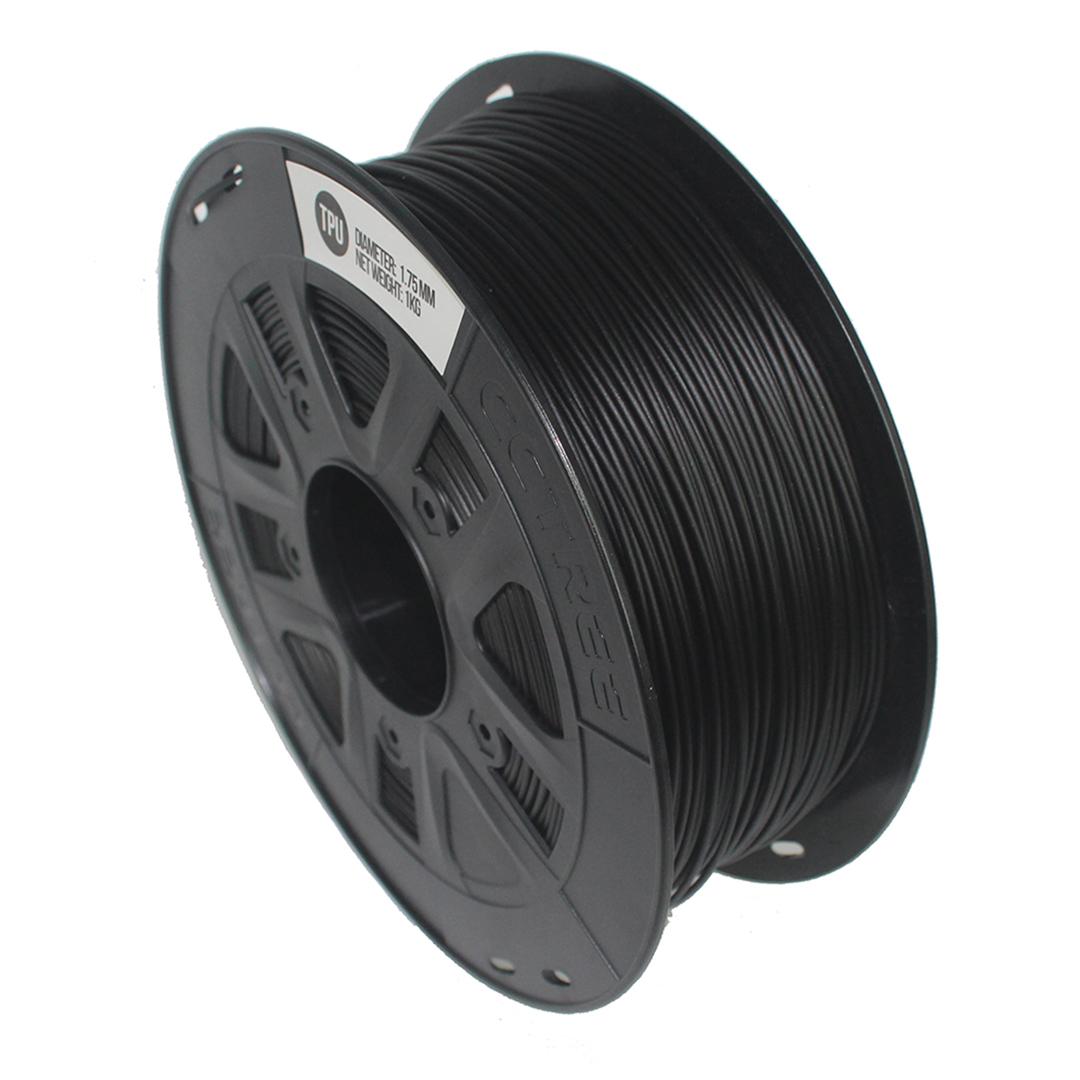Filamento Flexível TPU Preto 1.75 1Kg CCTREE