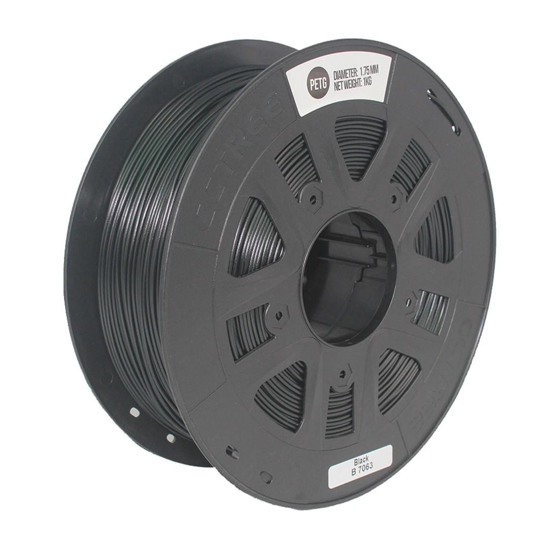 Filamento PETG Preto 1.75mm 1Kg CCTREE VersaMídia 3D