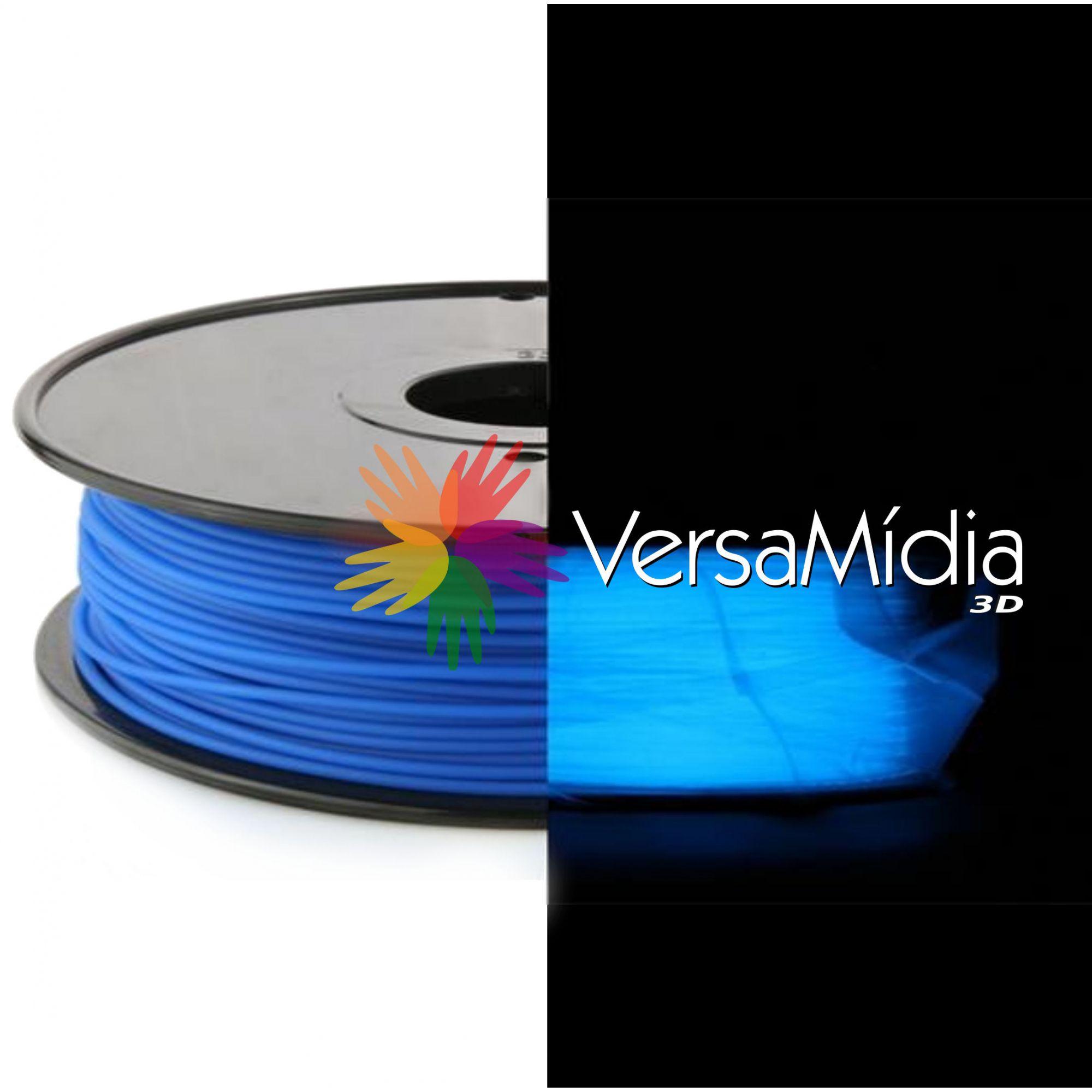Filamento PLA Brilho no Escuro VersaMídia 3D Premium  1.75mm 1Kg
